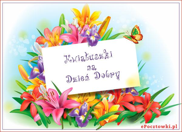 Kwiatuszki na Dzień Dobry