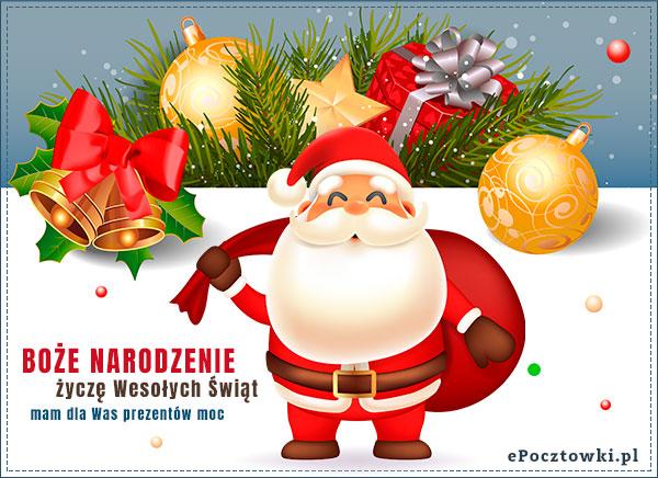 Mikołaj z życzeniami i prezentami